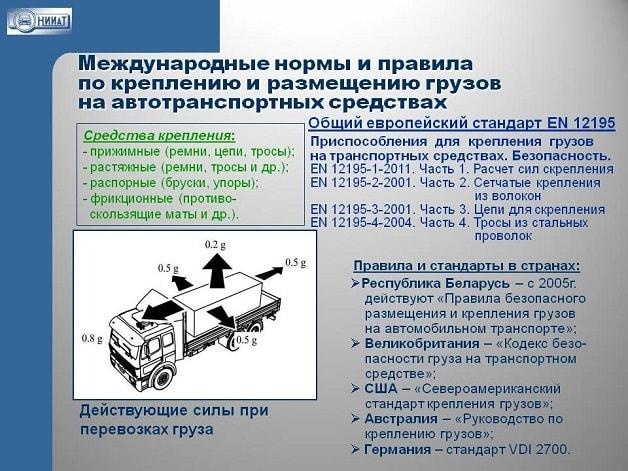 Правила по креплению грузов