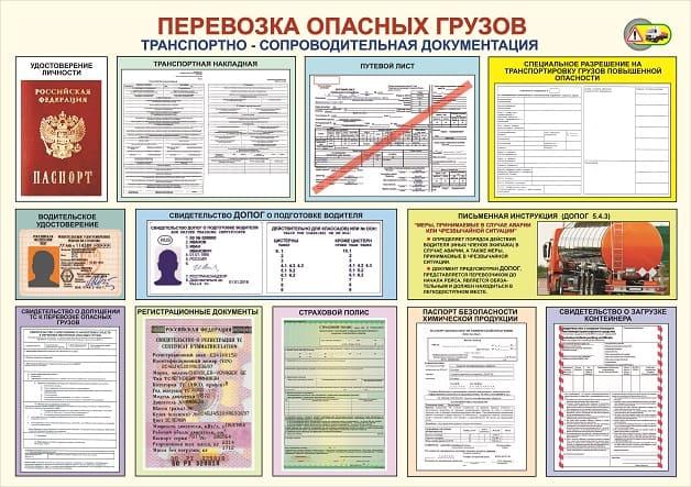 Сопроводительная документация для перевозки опасных грузов