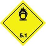 Знаки 5 класса опасности - подкласс 1