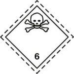 Знаки 6 класса опасности - подкласс 1