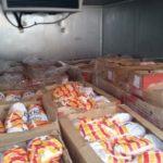 Перевозка мяса птицы в рефрижераторе