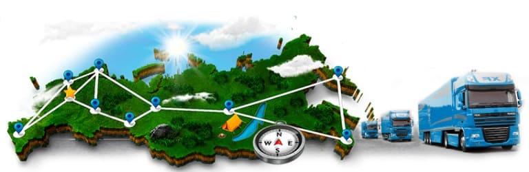 Коллаж - транспортная сеть