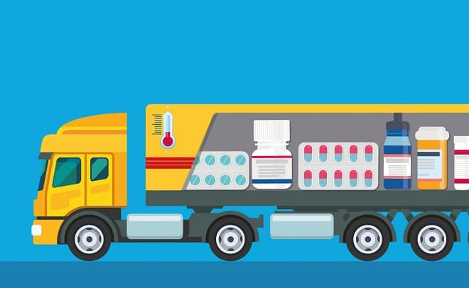 Коллаж - перевозка лекарств
