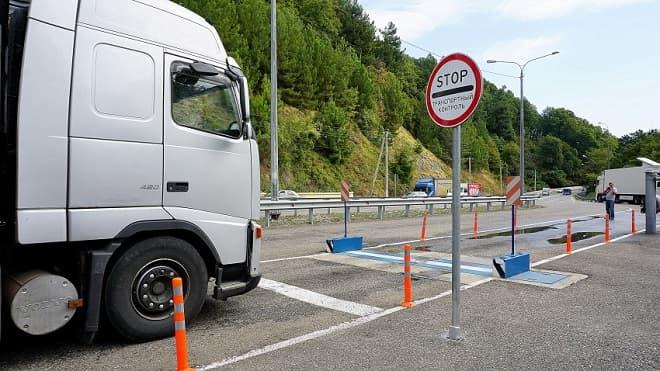 Взвешивание грузового автомобиля